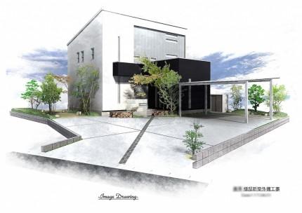 B様邸 新築外構工事 パース図