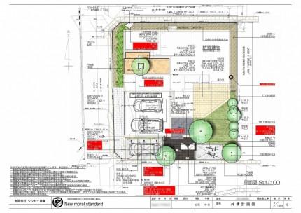 A様邸 新築外構工事 平面図